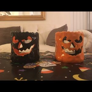 Other - 🎃2 Ceramic Halloween Candle Holders🎃